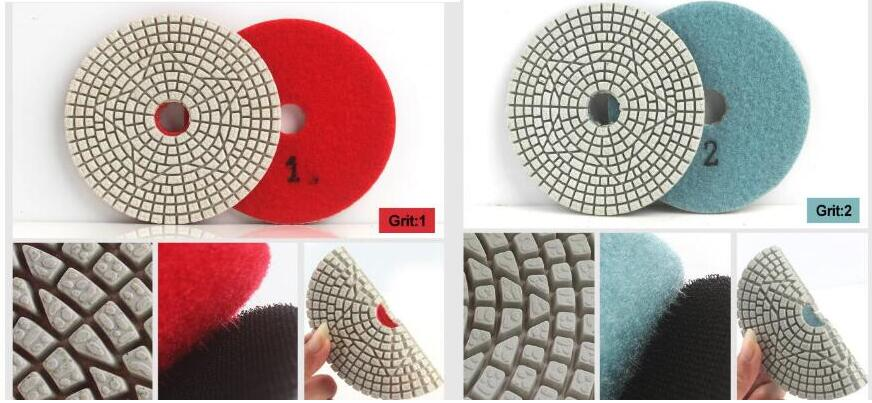 AFWP3S-F 100mm 3 step wet polishing pads