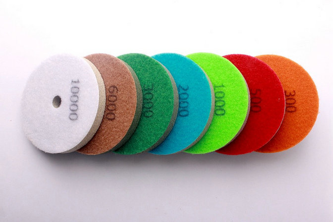4 Inch 7Pcs//Set 100mm Sponges Diamond Wet Polishing Pads Diamond Abrasive Pads